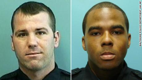 Former Baltimore Police detectives Daniel Hersl, left, and Marcus Taylor.