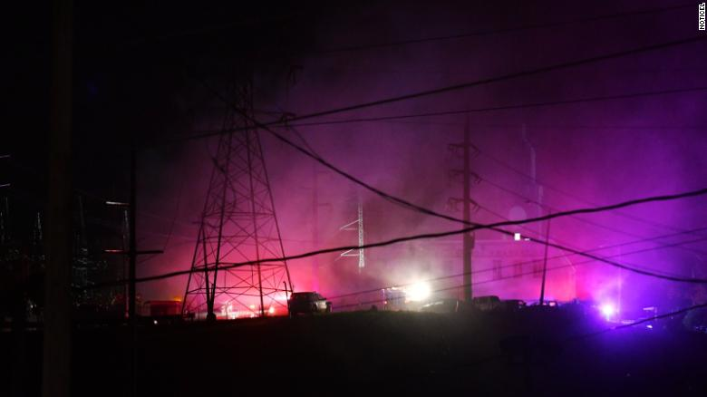 Image result for Explosion cuts power in Puerto Rico