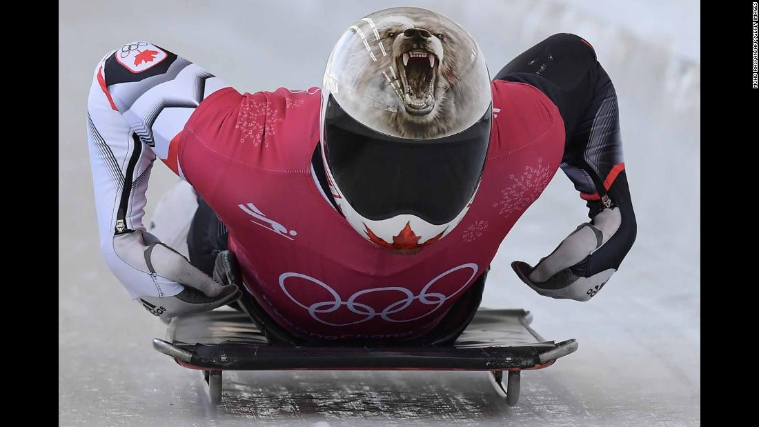 Canada's Barrett Martineau trains for the skeleton.