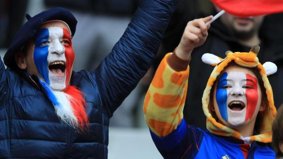 Traveling French fans were in full voice at Murrayfield for their side