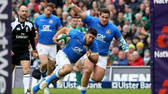 While Italy crossed for three tries, it wasn