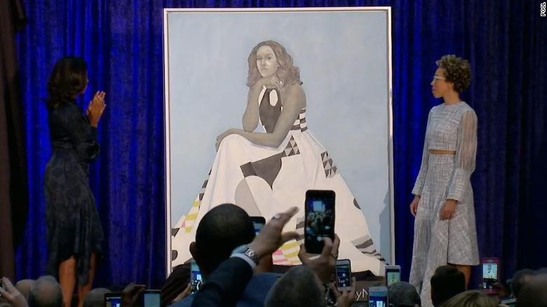 See Michelle Obama's portrait unveiled