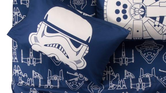 """<strong>Star Wars Blue and White Sheet Set ($28.49; </strong><a href=""""https://www.target.com/p/star-wars-174-blue-white-sheet-set/-/A-53000509#lnk=sametab"""" target=""""_blank"""" target=""""_blank""""><strong>target.com</strong></a><strong>) </strong>"""