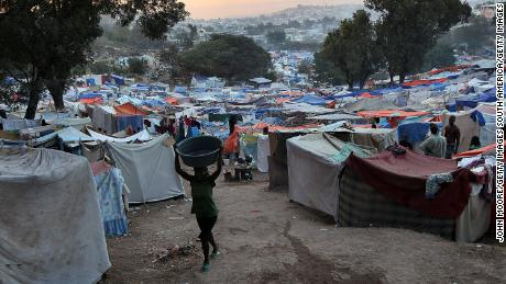 The earthquake left many thousands homeless and turned large parts of Port-au-Prince into refugee camps.