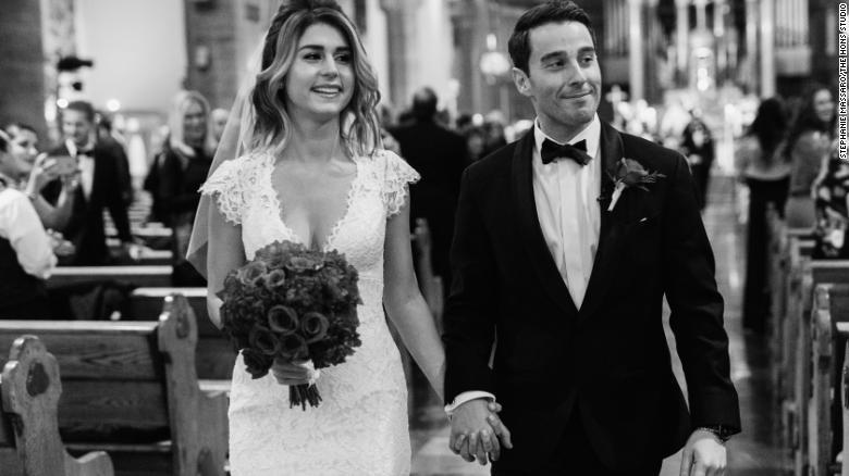 Lorenza and Pete Ingram's wedding day.