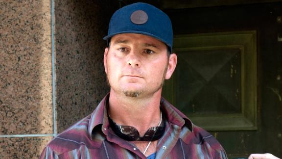 Jason Freeman speaks to reporters outside court in Los Angeles on January 26.