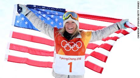 Team USA's Jamie Anderson won her second straight Olympic slopestyle gold.