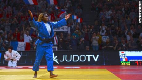 Clarisse Agbebnenou credited the crowds for spurring her on to a fourth Paris Grand Slam gold.