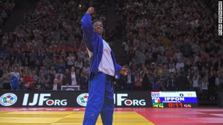 Audrey Tcheuméo also won gold on home soil, overcoming world No. 1 Guusje Steenhuis of Holland in the U78kg final.