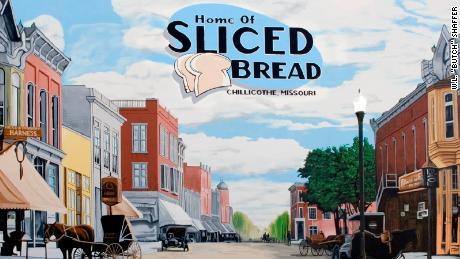This mural, found in Chillicothe, Missouri, commemorates the first sliced bread sold in the world.