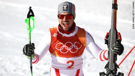 Austrian superstar Marcel Hirscher won his first Olympic gold in his third Games.