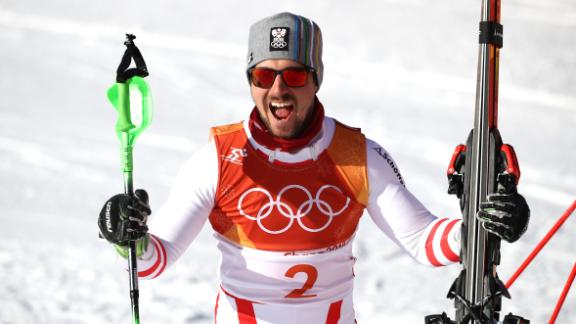 Austrian superstar Marcel Hirscher won his first Olympic gold in his third Games.