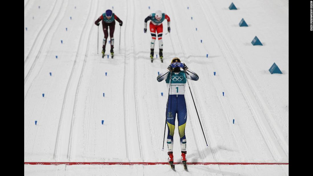 "They call her ""Silver Stina,"" but perhaps not anymore after Sweden's Stina Nilsson won gold in the cross-country sprint. Nilsson was nicknamed ""Silver Stina"" for her four World Championship silvers."