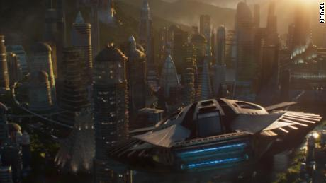 Wakanda is a futuristic world of flying cars.