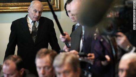 WASHINGTON, DC - FEBRUARY 13:  White House Chief of Staff John Kelly listens during a meeting between President Donald Trump and congressional members in the Cabinet Room of the White House February 13, 2018 in Washington, DC. President Trump held a meeting with congressional members to discuss trade.  (Photo by Alex Wong/Getty Images)