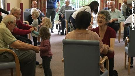 Residents of Nightingale House during a physical therapy session.