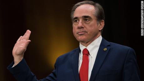 WASHINGTON, DC - FEBRUARY 1: David Shulkin, President Donald Trump's nominee for Secretary of Veterans Affairs, is sworn-in during his confirmation hearing with the Senate Committee on Veterans Affairs, on Capitol Hill, February 1, 2017 in Washington, DC. Shulkin is the current Under Secretary of Health for the U.S. Department of Veterans Affairs. (Photo by Drew Angerer/Getty Images)