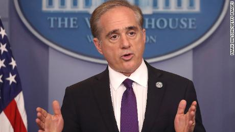Veterans Affairs Secretary David Shulkin talks about plans to revamp the department's information technology system during a news briefing at the White House, on June 5 in Washington. Shulkin said the VA will adopt a commercial IT program used by the Pentagon.  (Photo by Mark Wilson/Getty Images)