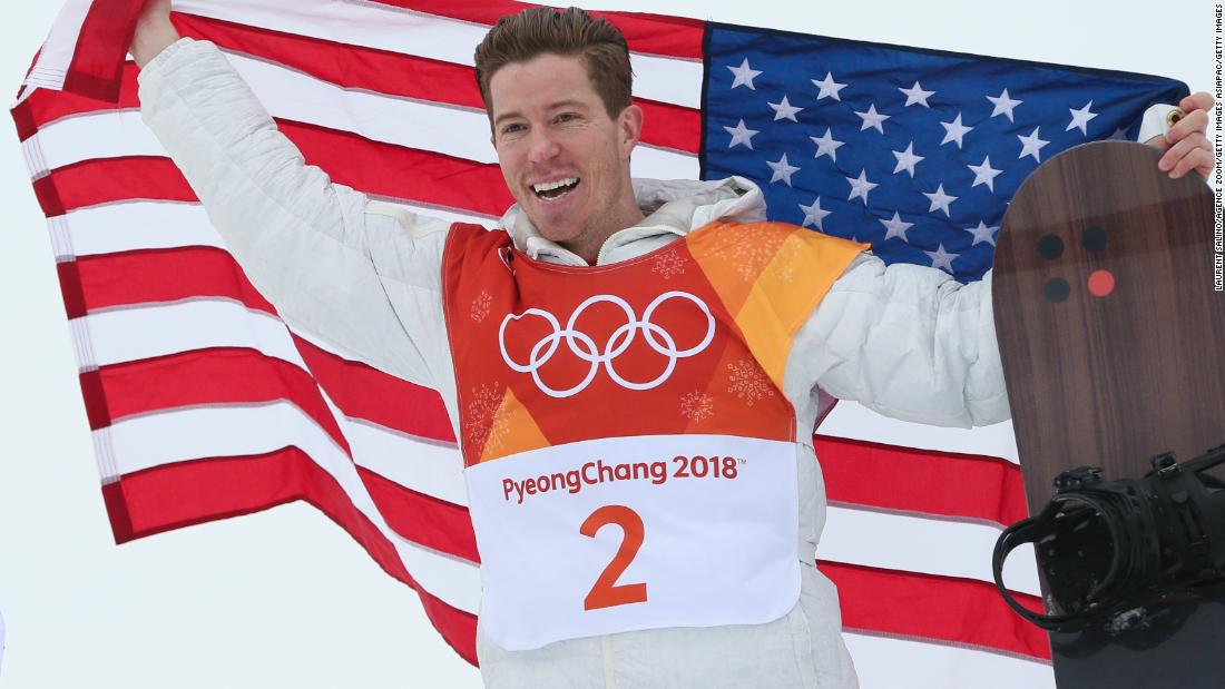 Shaun White lands historic third gold