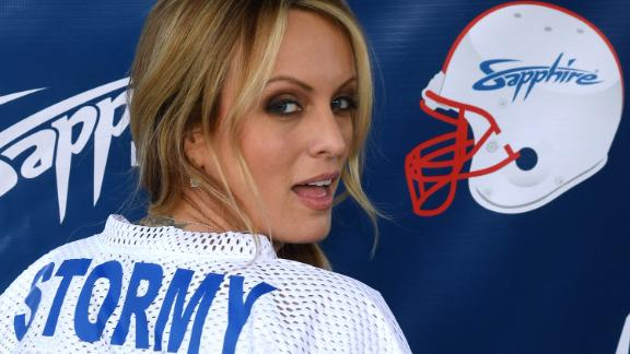 LAS VEGAS, NV - FEBRUARY 04:  Adult film actress/director Stormy Daniels hosts a Super Bowl party at Sapphire Las Vegas Gentlemen