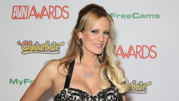 LAS VEGAS, NV - JANUARY 21:  Adult film actress/director Stormy Daniels attends the 2017 Adult Video News Awards at the Hard Rock Hotel & Casino on January 21, 2017 in Las Vegas, Nevada.  (Photo by Gabe Ginsberg/Getty Images)
