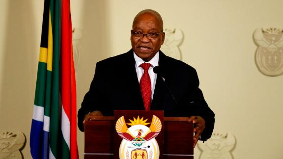 """Zuma speaks to the nation at the Union Buildings in Pretoria on February 14. <a href=""""https://edition.cnn.com/2018/02/14/africa/jacob-zuma-resigns-as-south-africa-president-intl/index.html"""">He announced his resignation </a>during the nationally televised address. <br />""""No life should be lost in my name and also the ANC should never be divided in my name. I have therefore come to the decision to resign as President of the Republic with immediate effect."""""""