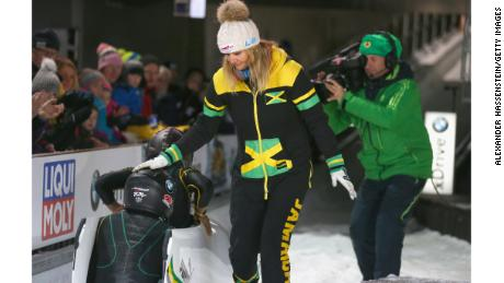 "The Jamaican Bobsled Federation said that German coach Sandra Kiriasis (C)  had ""elected"" to leave."