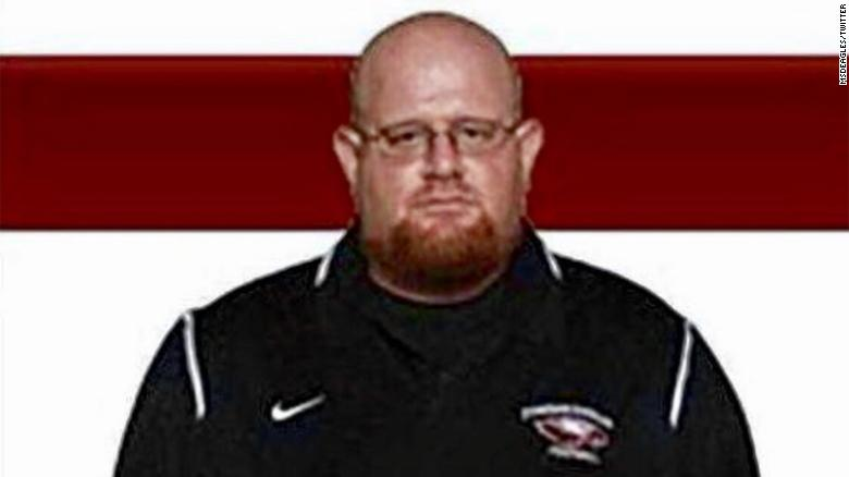 Football coach died shielding students