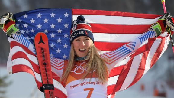 Mikaela Shiffrin won the second Olympic gold of her career with victory in the giant slalom.