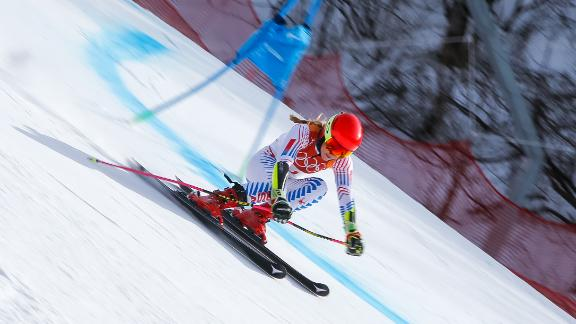 Mikaela Shiffrin was in blistering form when the weather cleared in Pyeongchang.