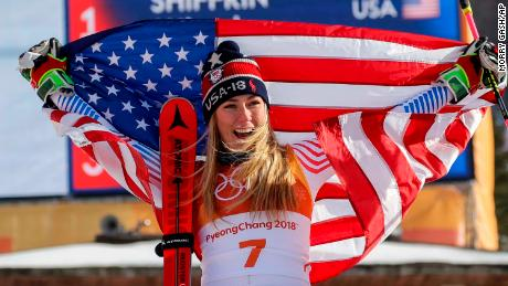 Mikaela Shiffrin won gold in the giant slalom and silver in combined in Pyeongchang.