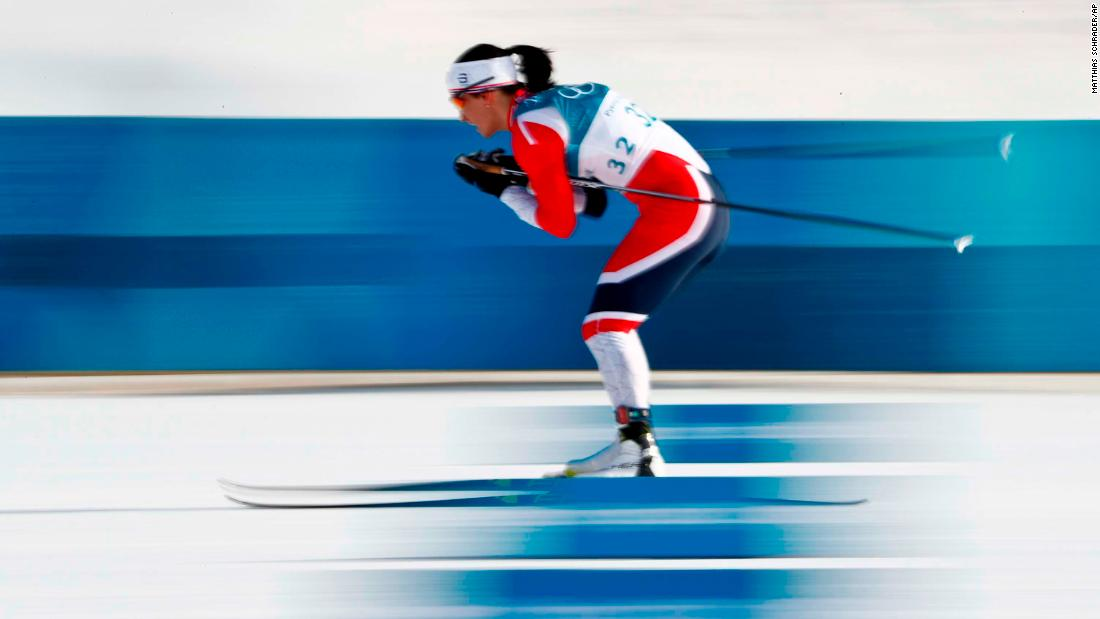 Norwegian cross-country skier Marit Bjørgen won her 12th Olympic medal when she took bronze in the 10-kilometer freestyle. No woman has won more medals at the Winter Olympics.
