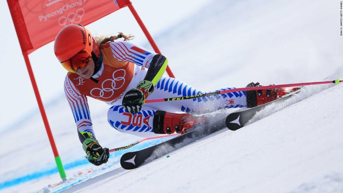 American skier Mikaela Shiffrin won the giant slalom on Thursday, February 15. It is the second Olympic gold of her career. She also won the slalom in 2014.