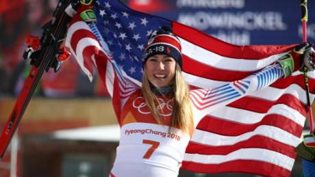 Shiffin is just the third American skier to win two Olympic gold medals. (Ezra Shaw/Getty Images)