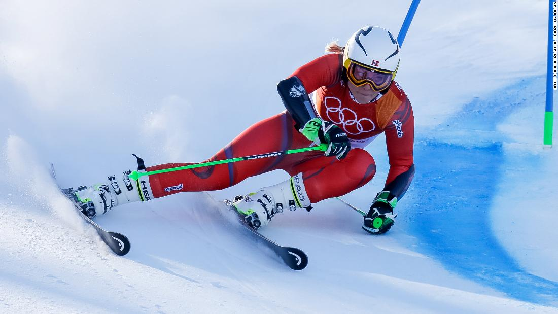 Norway's Ragnhild Mowinckel won giant slalom silver for her first Olympic medal, finishing 0.39 seconds behind Shiffrin.