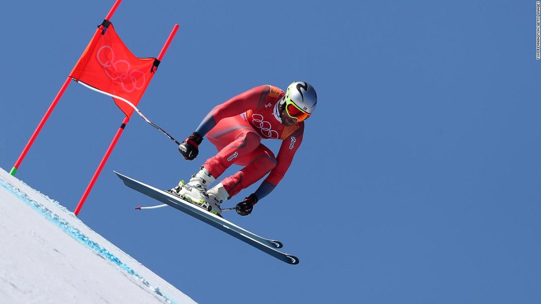 Aksel Lund Svindal of Norway made history in the men's downhill on day six, becoming the oldest Olympic alpine skiing champion at the age of 35.