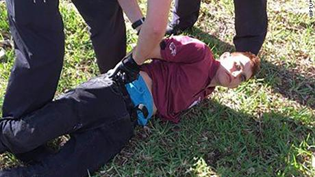Florida school shooting suspect Nikolas Cruz at his arrest Wednesday.
