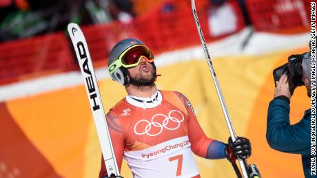 Aksel Lund Svindal of Norway won his first Olympic downhill gold in Pyeongchang.