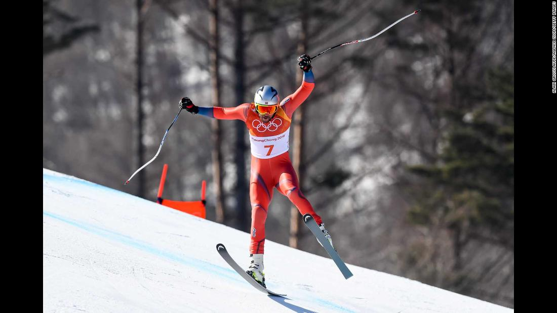 Norway's Aksel Lund Svindal made history when he won the downhill and became the oldest Alpine skier ever to win Olympic gold. Svindal, 35, now has four Olympic medals, three of which he won in 2010.