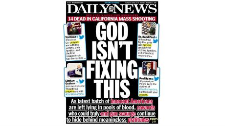 The December 3rd, 2015 edition of the New York Daily News