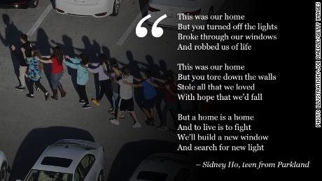 Parkland teen Sidney Ho wrote a poem to cast light on her hometown after the tragedy.