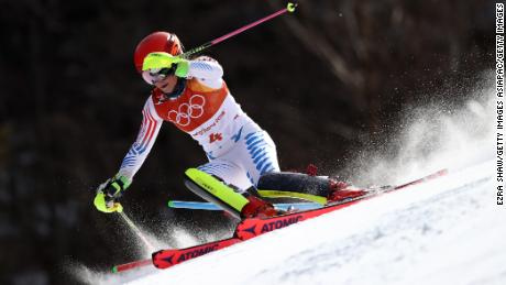 Mikaela Shiffrin misses out on slalom medal