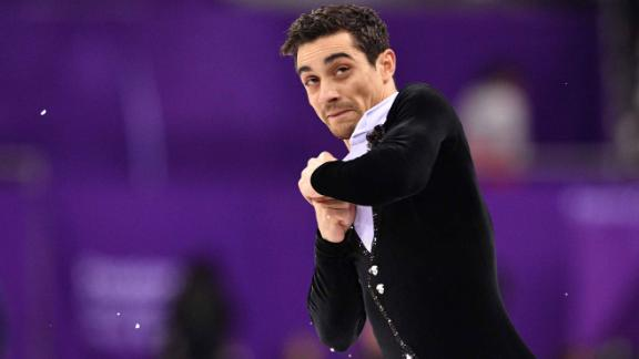 Spain's Javier Fernandez finished second after skating his short program. The competition ends Saturday.