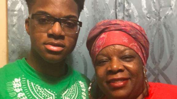 Austin Massiah, 17, with his mom, Edith Massiah, 53