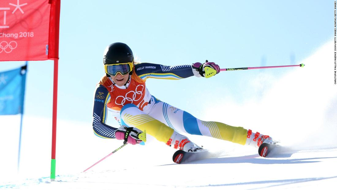 Instead, Frida Hansdotter of Sweden claimed her first ever Olympic medal, becoming the third Swede to win slalom gold.