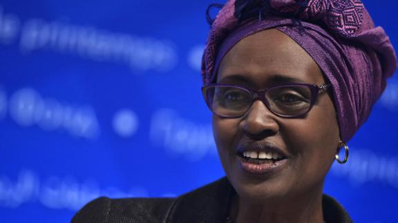 Oxfam International Executive Director Winnie Byanyima  urges abuse victims to come forward.