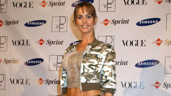 WEST HOLLYWOOD, CA - OCTOBER 15:  Actress Karen McDougal arrives at the launch party to celebrate Diane von Furstenberg's limited edition designer mobile phone at Astra West in the Pacific Design Center on October 15, 2004 in West Hollywood, California.  (Photo by Cherie Steinberg/Getty Images)
