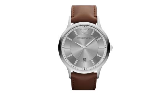 Emporio Armani Round Leather Strap Watch ($129.99, originally $195; nordstrom.com)