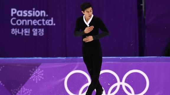 American figure skater Nathan Chen, coming off a disappointing short program on Friday, landed a record six quads -- five of them cleanly -- during his free skate on Saturday. He had the best free skate of the day but still finished out of the medals.
