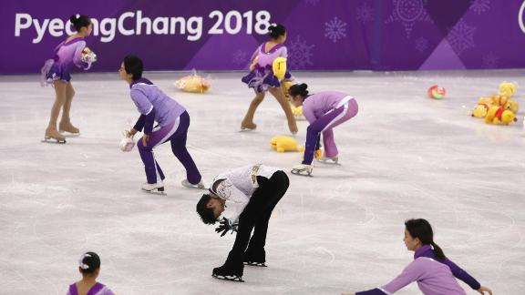 Japan was enthralled by Yuzuru Hanyu, who became the first male figure skater since 1952 to win back-to-back skating golds. At the end of his routine, fans showered the rink with Winnie the Pooh toys, Hanyu
